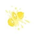 Lemon Cut In The Air Splashing The Juice vector image