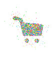 abstract shopping basket vector image