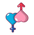 love male and female icon cartoon style vector image