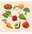 farm vegetables collection vector image