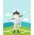 Baseball player on field vector image vector image