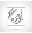 Car evacuation flat line icon vector image