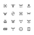 Simple Drone Icons vector image