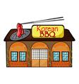 A korean bbq shop vector image