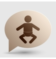 Baby sign Brown gradient icon on vector image