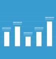 business graph blue background design vector image