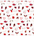 cartoon mouths pattern vector image