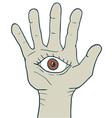 Fantasy hand vector image