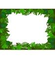 green leaf frame vector image
