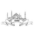 istanbul landmark label travel turkey symbol vector image