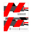 red cool business card template vector image