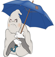 Spirit and an umbrella vector image