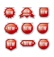 red advertising badges vector image