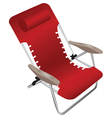 Red folding armchair vector image