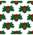 Fir cone seamless pattern vector image