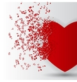 Happy Valentines Day Card with Heart Music Notes vector image