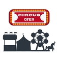 Circus elements design vector image