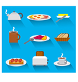 breakfast icon set vector image