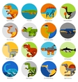 Dinosaur Icons Set vector image