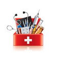 medical equipment box isolated vector image