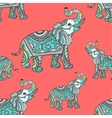 Stylized fantasy patterned elephant vector image