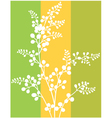 Wallpaper with leaves vector image