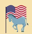 democrat political party animal vector image