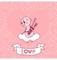 Valentines Day card with a cute Cupid vector image
