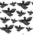 Silhouette of black ethnic birds vector image