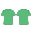 Green t shirt vector image