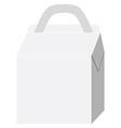 White cardboard vector image