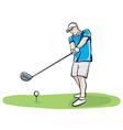 Hand Drawn Golfer vector image