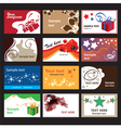 Set of business cards on different topics vector image vector image