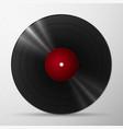 Black vinyl record vector image