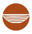 fishing canoe isolated icon vector image