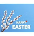 Happy Easter Card Eggs Grass Flowers Poster vector image