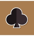 paper sticker on stylish background poker playing vector image