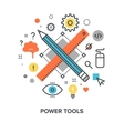 power tools concept vector image