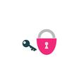 Lock key Icon vector image