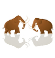 Charging bulls Vector Image