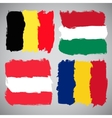 Grunge European flags set vector image vector image