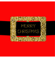 Santa Claus Coat with gold glitter belt Merry vector image