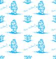 blue seamless santa claus vector image