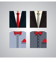 Flat icons for formal wear vector image
