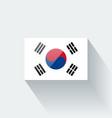 Flag of South Korea vector image vector image
