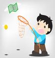 Catch money vector image