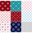 Big set seamless christmas patterns vector image
