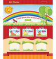 Cartoon background for kid web template vector image vector image