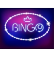 Neon Light Bingo Isolated vector image vector image