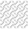 Simple geometric pattern - lines on vector image vector image